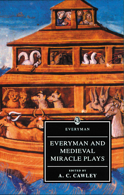 Everyman and Medieval Miracle Plays. ed A. C. Cawley