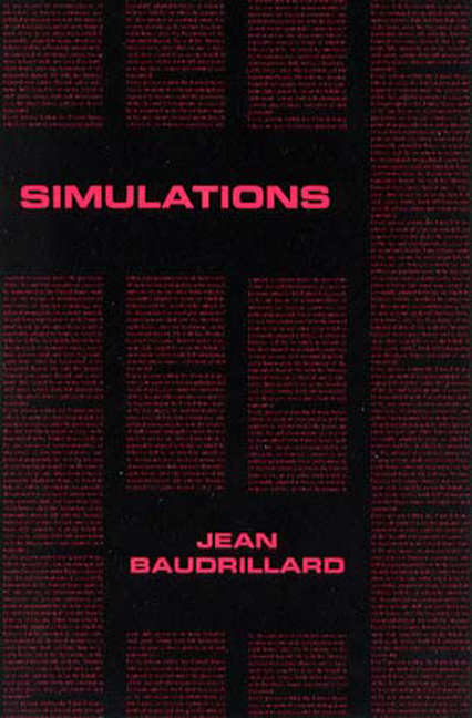 Simulations (Foreign Agents Series). Jean Baudrillard