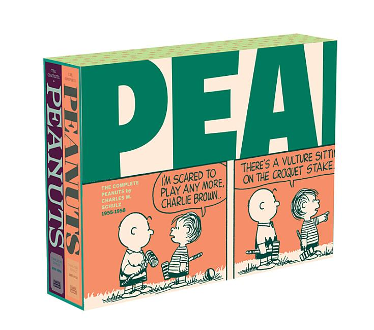 The Complete Peanuts 1955-1958: Vols. 3 & 4 Gift Box Set - Paperback (The Complete Peanuts)....