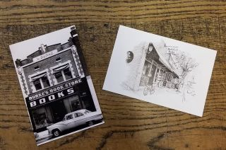 Burke's Book Store Postcards
